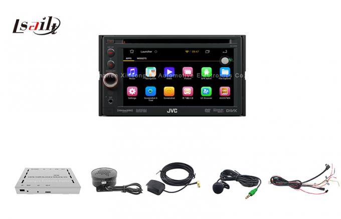 Auto JVC Android Car GPS Navigation Box with External E-dog , TMC , SD / TF Card