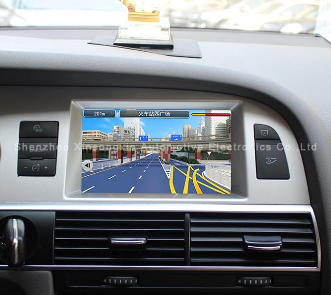 Portable AUDI A6L / Q7 Car Multimedia Navigation System with BT , Trajectory Reversing