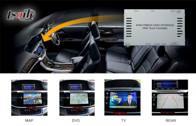 Accord 9 Honda Video Interface Built-in GPS Navi Box for OEM Honda Head unit , Bluetooth