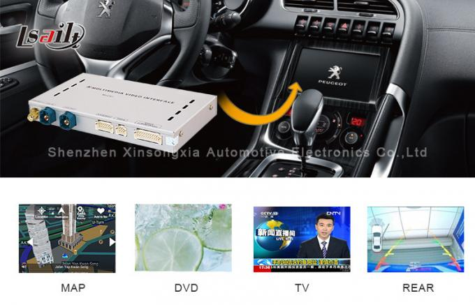 HD 3G Multimedia Video Interface Box For Peugeot-408 Car Android Navigation Boxes