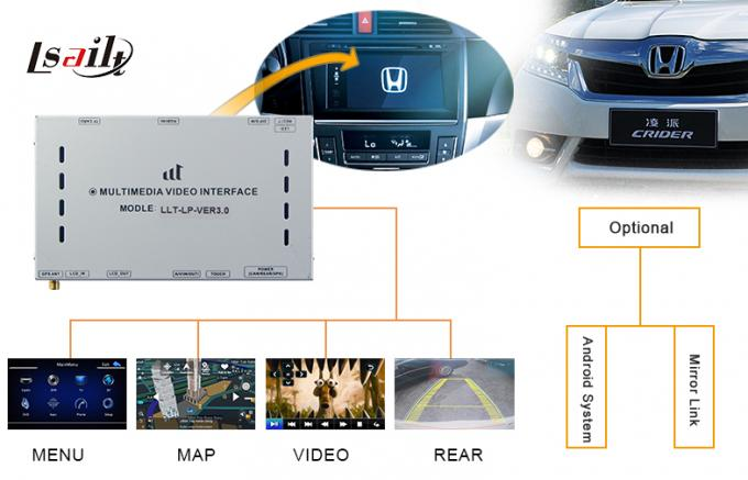GPS Navigation Honda Video Interface / Video Decoder for City Left-Hand Drive Honda City 2014 Year
