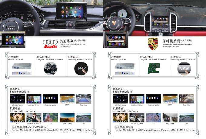 1GB / 2GB RAM Audi NISSAN Multimedia Interface Android Navigation System 8-12V