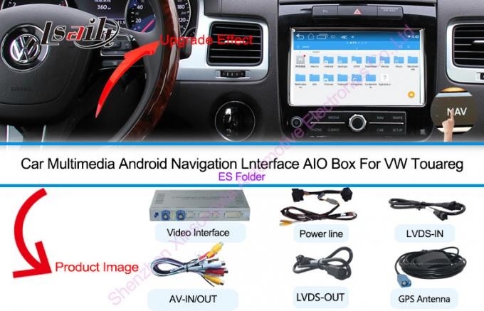 "Reverse Camera Android Auto Interface Navigation Box Made for VW Touareg 8"" RNS850 System"