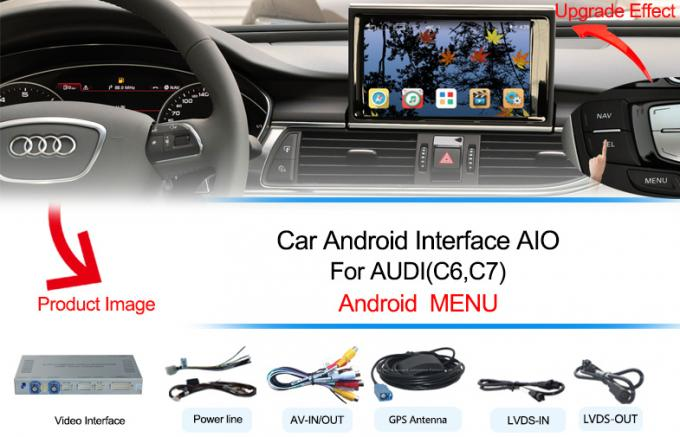 2017 AUDI A4 Andorid Navigation Multimedia Video Interface with Built-in Mirrorlink , WIFI , Parking Guide Line