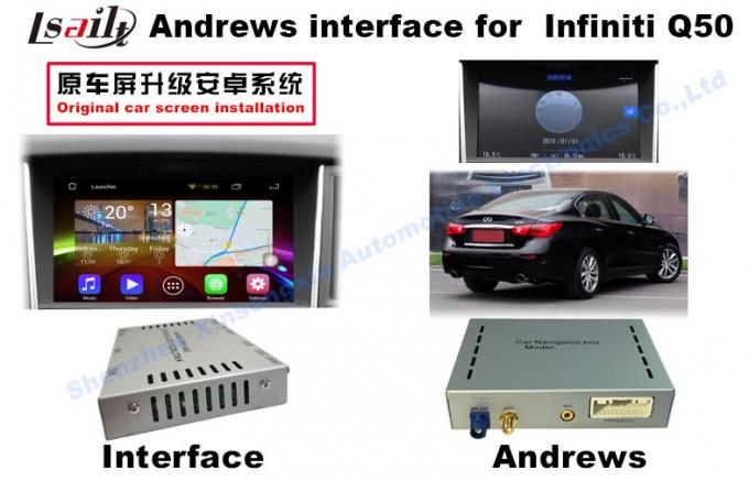 INFINITI Q50 Android Auto Interface With WIFI / Bluetooth 3G / Rearview Camera