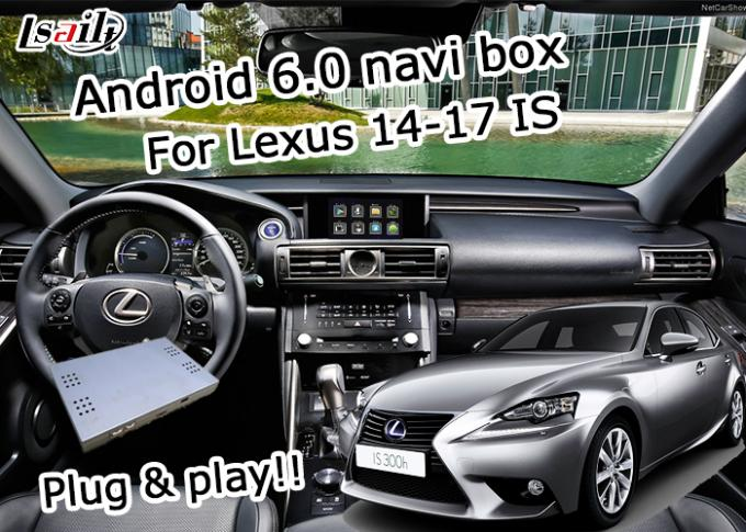 GPS Android navigation box Lexus IS200t IS300h knob mouse control waze youtube Google play