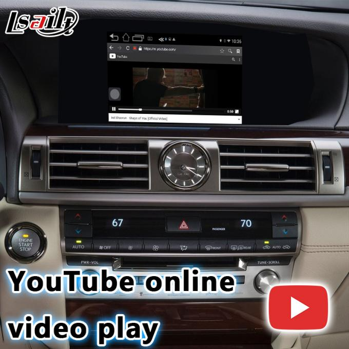 Lexus LS460 LS600h Car GPS navigation box Android 6.0 fast speed youtube offline
