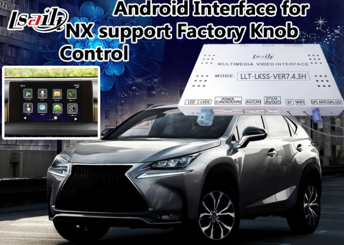 Full Plug and Play RX NX LX android video interface Control by Original Knob , Touch sensor Board