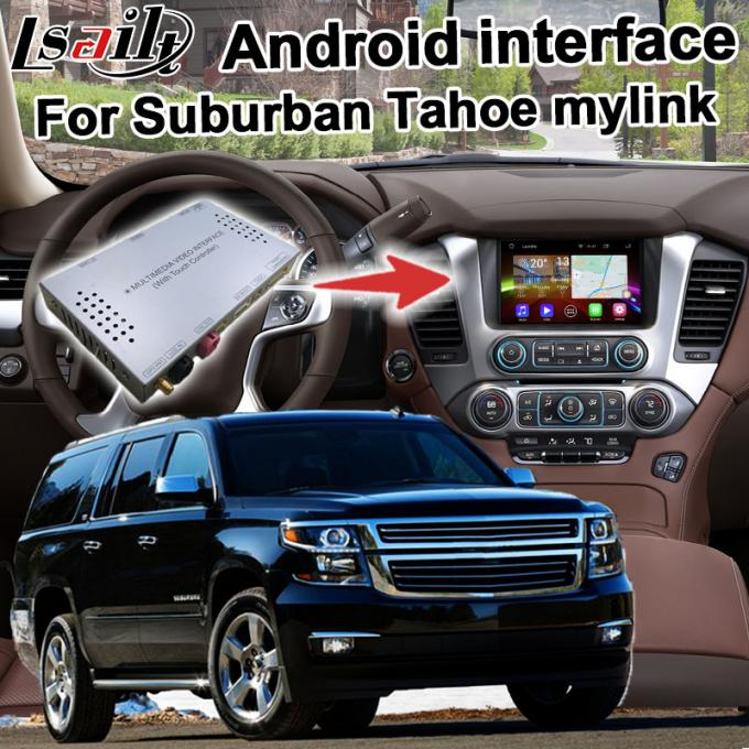 Android GPS navigation box interface for Chevrolet Suburban Tahoe with rearview WiFi video mirror link