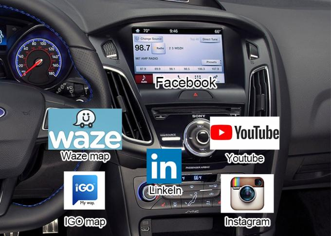 Navigation Android Auto Interface for Focus with Online Map Google