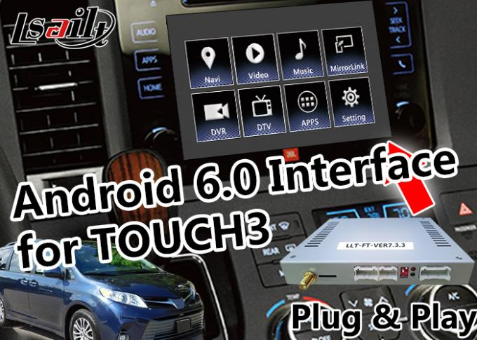 Plug / Play Android Auto Interface 2G ROM Android Screen For Toyota Sienna