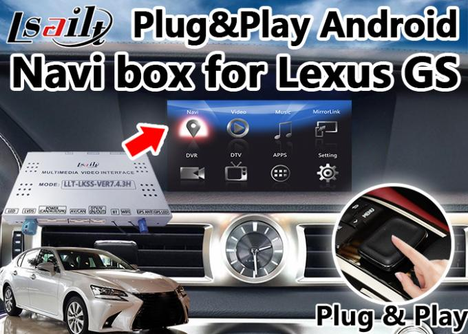 Android 6.0 Navigation Lexus Video Interface for GS Control / Multimedia Video Interface