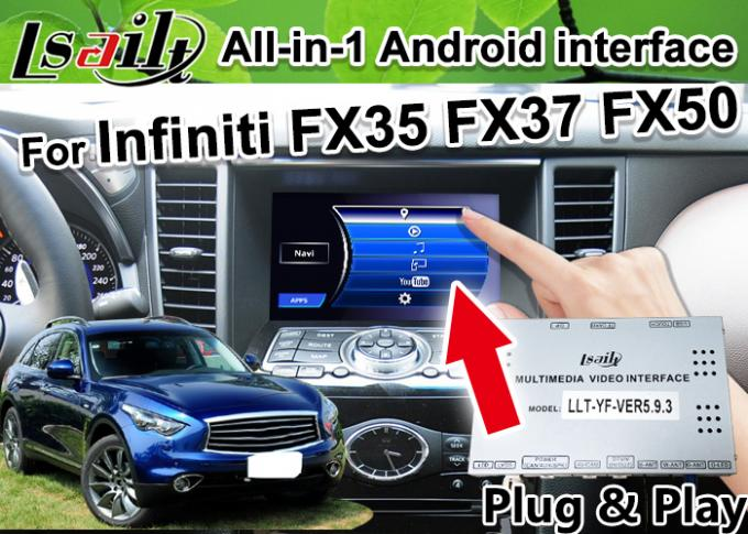 All-in-1 Android Auto Interface for Infiniti FX 35 FX37 FX50 Integration GPS Navigation , apple carplay ,Android auto