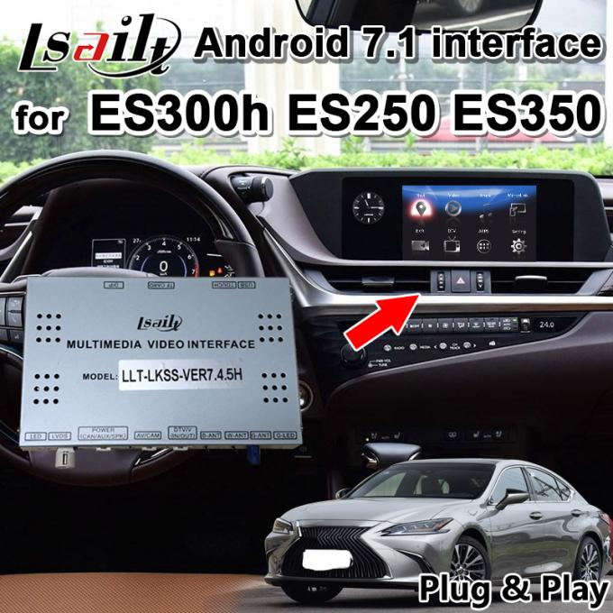Lsailt Android 7.1 GPS Navigation Box for Lexus ES200 ES300 ES350..2013-18 video interface support phone mirroring