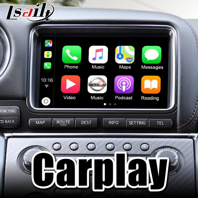 Android Auto interface support carplay, reverse cameras and android auto for 2008-2010 GTR GT-R R35