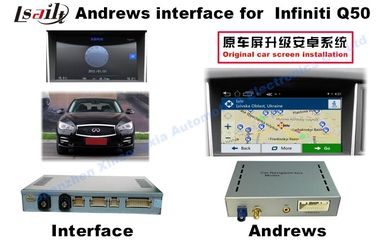 China INFINITI Q50 Android Auto Interface With WIFI / Bluetooth 3G / Rearview Camera supplier