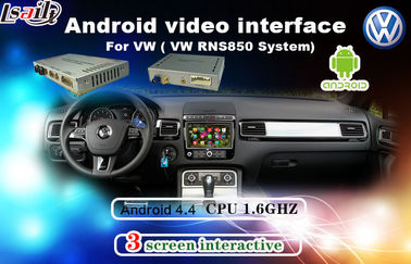 China Android 6.0 Muti-Language Car Interface Android For Tiguan / Sharan / Magotan With Network , Miracast supplier