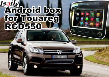 China Android GPS Navigation Box Video Interface For Touareg RCD550 Offline Navigation Waze Youtube Mirror Link supplier