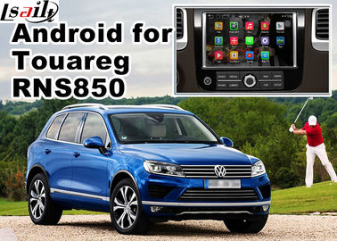 China GPS Android Navigation System For Car , Volkswagen Touareg RNS 850 8 Inch Youtube Waze Wifi supplier