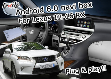 China RX 12-16 6.0 version Lexus Video Interface , 2GB RAM fast speed Android navigation box supplier