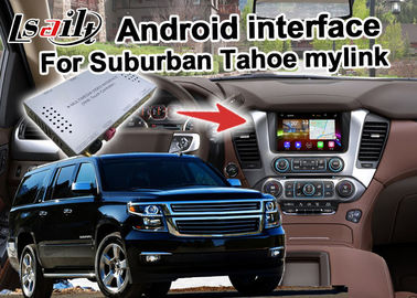 China Android GPS navigation box interface for Chevrolet Suburban Tahoe with rearview WiFi video mirror link supplier