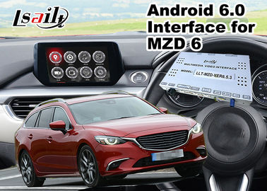 China Android 6.0 Multimedia Video Interface for Mazda 6 Wagon 2014-2018 Car MZD Connect System , GPS navigation Mirrorlink supplier
