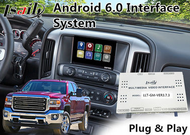 China GMC Sierra Android 6.0 Navigation Video Interface for 2014-2018 support APPS/MCU Upgrade supplier