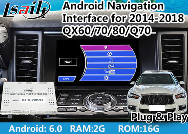 China Built - In WIFI Android Auto Interface for Infiniti QX With Google Play / T3 Quad - Core Processor supplier