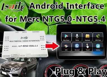 China Android 6.0 Mercedes Benz Navigation System , Car Video Interface Support Google Play supplier