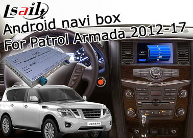 China Nissan Patrol Y62 Armada 1.2GHz CPU Car Navigation Box , GPS Navigation Device supplier