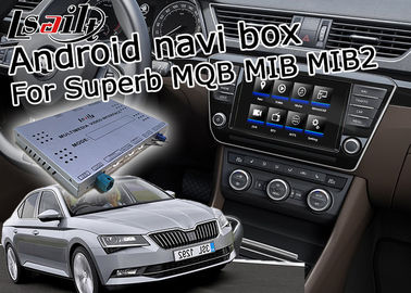 China 1.2 GHz Quad Android Car Navigation Box 4 / 2 GB Running Memory Skoda Superb supplier