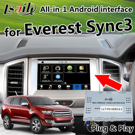 China Multimedia Video Interface / Android Auto Interface Work on Ford Everst Sync3 System with android gps navigation supplier