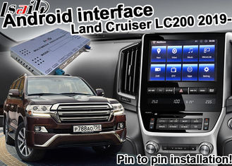 China Digital Car Video Interface , Android Navigation Box Toyota Land Cruiser LC200 2019 Udio supplier