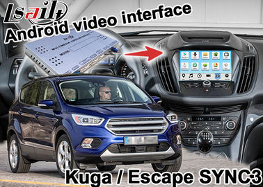 China Android Navigation Box Video Interface For Kuga Escape SYNC 3 With wireless carplay androia auto supplier