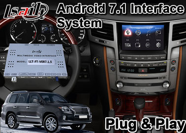 China Lsailt Android Video Interface for 2012-2015 Lexus LX570 with GPS Navigation Youtube Wifi Support Add ADAS And Carplay supplier