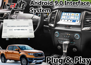 China Android 9.0 Auto Interface Gps Navigation for Ford Ranger / Everest SYNC 3 System LVDS Digital Display Bluetooth OBD supplier
