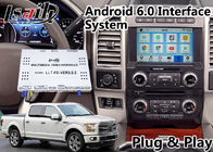 China Android 6.0 Navigation Video Interface for  F 150 SYNC 3 System support Youtube Spotify factory