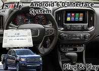 China Android 6.0 Auto video interface for GMC Canyon 2014-2018 buiilt in wifi bluetooth mirrorlink navigation factory