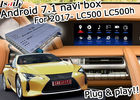 China Lexus LC500 LC500h GPS Navigation Box video interface optional wireless carplay and android auto youtube Google play company