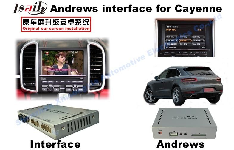 Android System Navigation Video Interface For 2015 Porsche