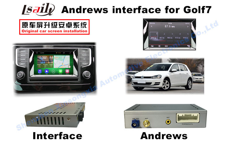 VW GOLF7 MIB2 Vehicle Android Auto Interface With Full Touch DVD