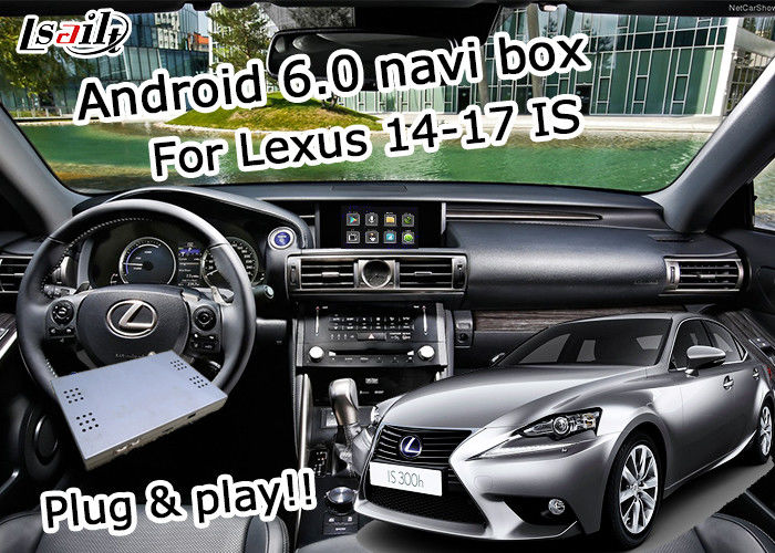 GPS Android navigation box Lexus IS200t IS300h knob mouse control