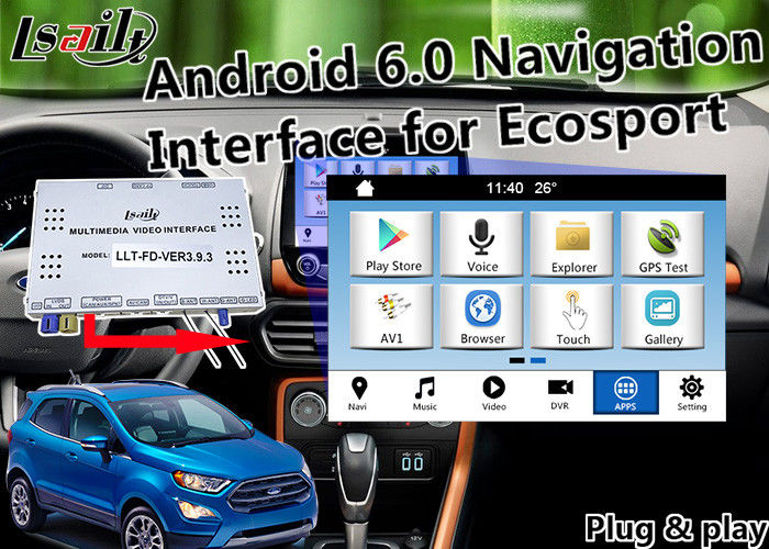 Plugplay Android Auto Interface For Ford Ecosport Fiesta Focus Kuga With Live Navigation D Map Miracast