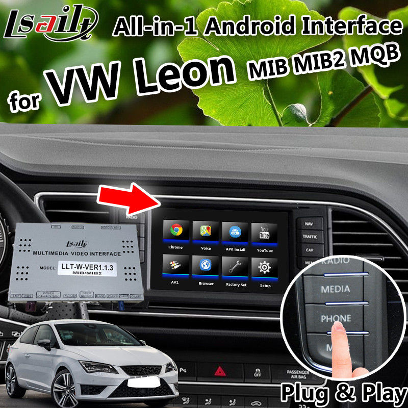 LVDS All-in-1 Android GPS Navigation Box for Volkswagen Leon Seat