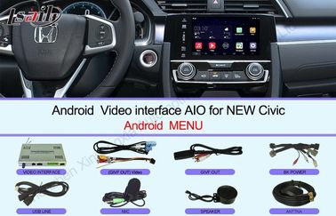 China HD 2016 Civic Honda Video Interface Touch screen Multimedia Android 6.0 distributor