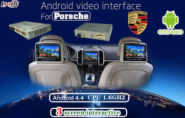 China Multimedia Android Auto Interface for Porsche PCM 4.0 , support Headrest Monitor display factory