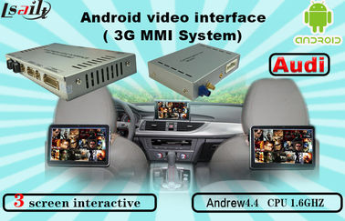 China Quad Core Android Navigation box , Upgraded Multimedia Video Interface for AUDI factory