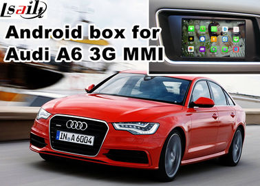 China Audi A6 S6 Video interface Mirror Link Rearview Gps Car Navigation Device Quad Core 1.6 Ghz Cpu factory