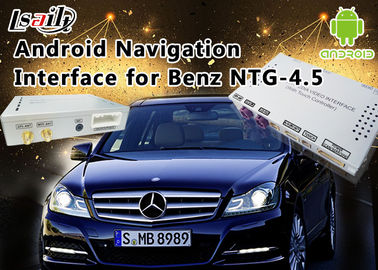 China Mercedes-Benz E Class NTG 4.5 GPS Navigation Android Auto Interface Box Support WiFi Bt Mirrorlink distributor