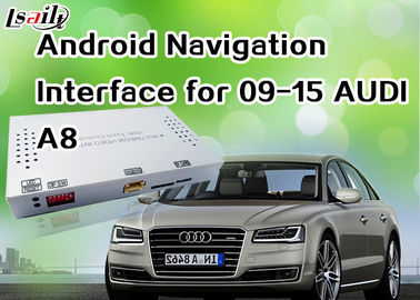 China Android 6.0 GPS AUDI A8 Android Auto Interface , Android Navigation Box 360 Bird View Cameras factory